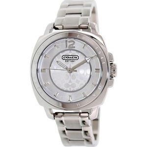 Women's Coach Boyfriend Mini Silver Watch 34mm
